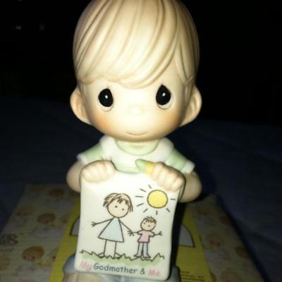 NIB Precious Moments-My Godmother And Me Boy Figurine - #115904 - Retired  RARE!