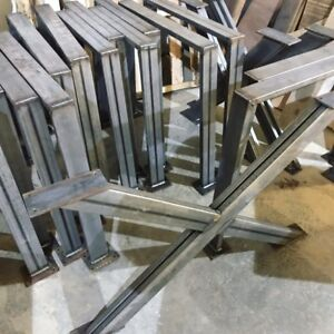 "Steel Dining Table or Desk Legs ""U"" or ""X"" shaped"