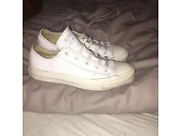 White leather converse size 4