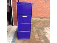 4 drawer filing cabinet - metal, purple