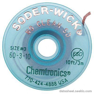 Chemtronics 60-3-10 Soder Wick No Clean Sd Desoldering Braid 5 Pack
