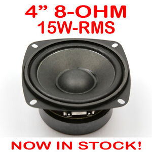 4-15WRMS-PA-DJ-Speaker-Subwoofer-Woofer-Sub-Driver-4-Inch-8-Ohms-Quality
