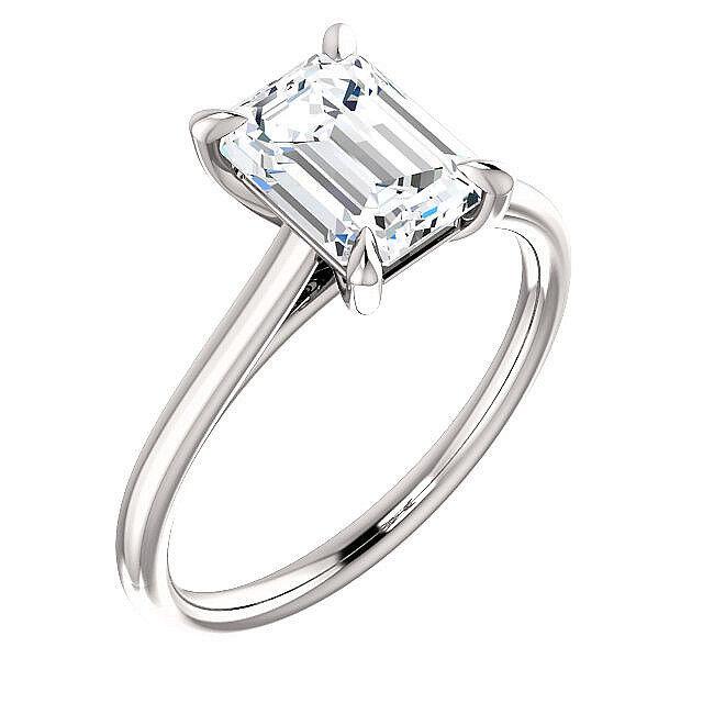 2.40 ct. Emerald Cut Diamond Engagement Solitaire Ring Platinum G, VVS2 GIA