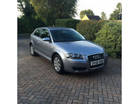 **AUDI A3 1.6 Special Edition 3 DR AKOYA SILVER. 1 year MOT, Full service history, low mileage**
