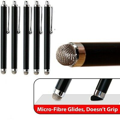 5 x BLACK  MICRO-FIBER STYLUS PEN FOR SAMSUNG GALAXY//KINDLE TABLET/ IPAD/IPHONE