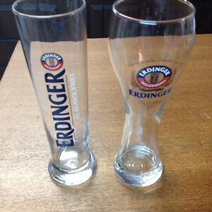 ERDINGER WEISSBRAU BEER GLASSES (price dropped $10)