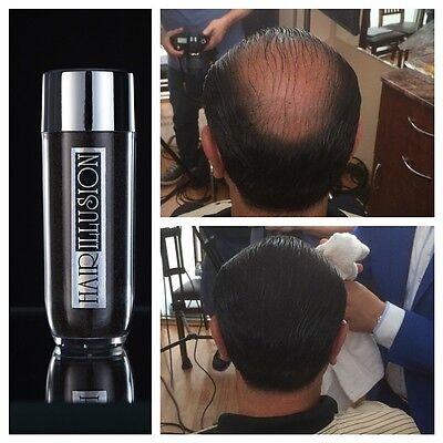 Hair illusion NATURAL Hair Fibers OEM Hair Fall Baldness Concealer Black 38.5G