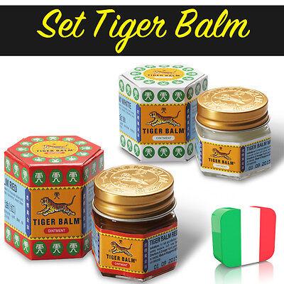 SET di Balsamo di tigre Rosso e Bianco / RED AND WHITE TIGER BALM - 18,4 gr.