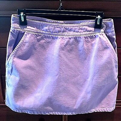DKNY Jeans Lavender Denim Mini Skirt Side Pockets sz 6