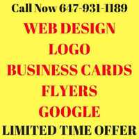⭐Cheap Logo l Web design l Business Card l Call 647-931-1189⭐