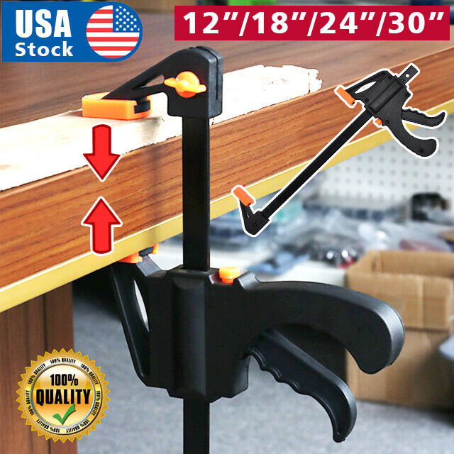 Quick Grip 12″-30″ F woodworking Clamp Clip Heavy Duty Wood Carpenter Tool Clamp Clamps & Vises