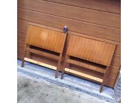 Two wooden antique headboards