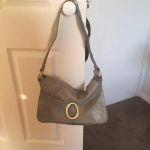 Grey Oroton Style leather bag Gwelup Stirling Area Preview
