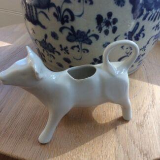 Pillivuyt Cow Cream Porcelaine Milk Jug