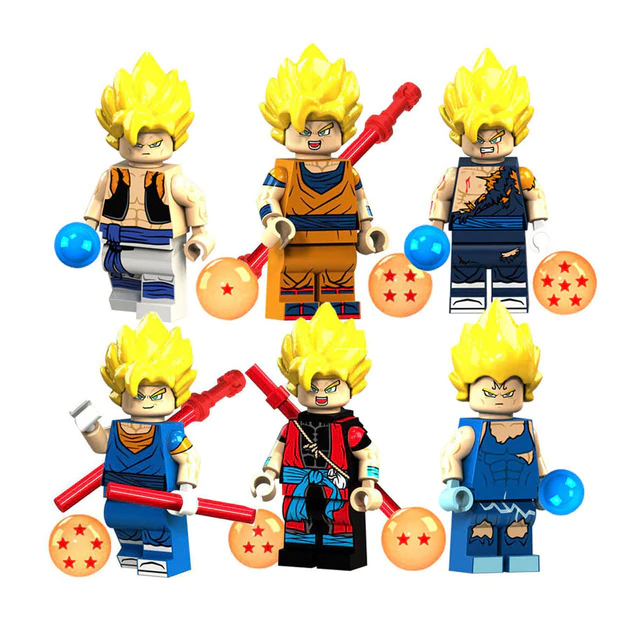 Count:6pcs:32pcs Dragon Ball Z Action Figure Super Goku Building Blocks For Lego Toy Heroes