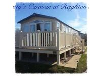 🎉REDUCED DATES 🎉3 Bedroom Platinum Caravan to Rent Reighton Sands Filey. Dog Friendly