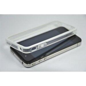 APPLE-IPHONE-4-4G-4S-CUSTODIA-COVER-BUMPER-TPU-BIANCO-CON-TASTI-METALLICI