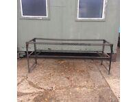 Metal Dexion type metal bench frame