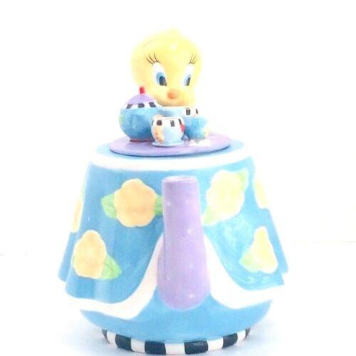 Vintage Warner Bros Studio Store Tweety Bird Teapot Ceramic Novelty Tea Party
