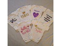 Personalised Baby bodysuits