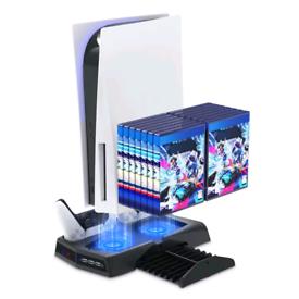 Playstation 5 Vertical Stand Cooling Fan Game Holder Station