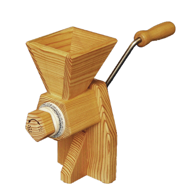 Kornkraft - Farina Handmühle / Getreidemühle aus Lärchenholz