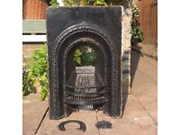 Original Cast Iron Victorian Fireplace