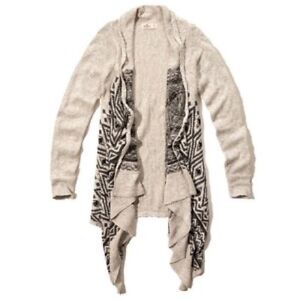HOLLISTER KNIT WATERFALL CARDIGAN-GOOD CONDITION!