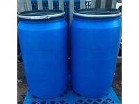 240litre plastic barrels, shipping, general storage