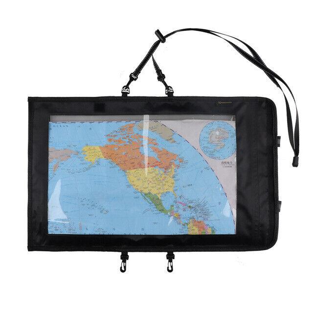 Foldable Waterproof Map Pocket Hiking Field Training Transparent    Storage Bag