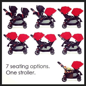Used Contours Options Tandem Double Stroller