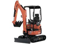 Mini Digger Hire + Hire Insurance - Book Online - Fast, Simple and Affordable