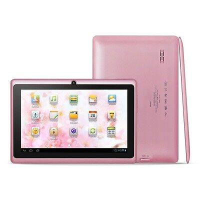 "7"" Android 4.2 Dual Cam 1.2Ghz Pink WiFi Tablet - Bonus Bag, Headphones, Stylus"