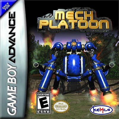 Nintendo Mech Platoon Gba Game Boy Advance
