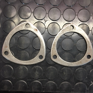 """NEW 3""""- 3 Bolt Header Exhaust Pipe Flanges.  Pair"""