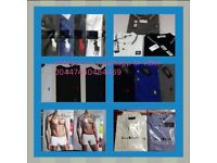 MENS RALPH LAUREN, HUGO BOSS, ARMANI, LACOSTE, TOMMY, CK, FRED PERRY POLOS, TEES AND BOXERS