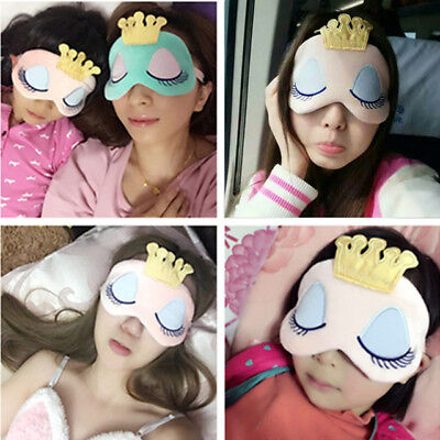 Girls Women Soft Travel Relax Sleeping Blindfold Shade Comfort Eye Mask US