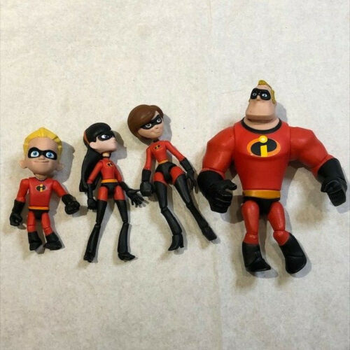 Disney Store Incredibles Figures (Mr. Incredible, Dash, Mrs. Incredible, Violet)