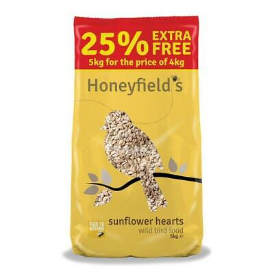 Honeyfield's Sunflower Hearts Wild Bird Food 25% Extra Free