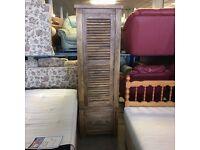Solid wood single wardrobe or storage unit