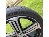"Genuine VW Golf R CADIZ 18"" Alloy Wheels & Michelin PS4 Tyres - 5x112 VAG"