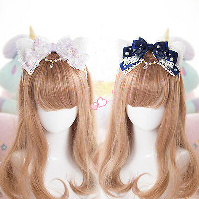 Japanese Harajuku Gothic Lolita Lace Bow Cute Princess Headband Hair Accessories](Princess Headband)