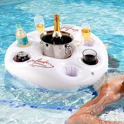 kehalter Pool Getränke-Halter im coolen Rettungsring-Design (Aufblasbare Pool Cooler)