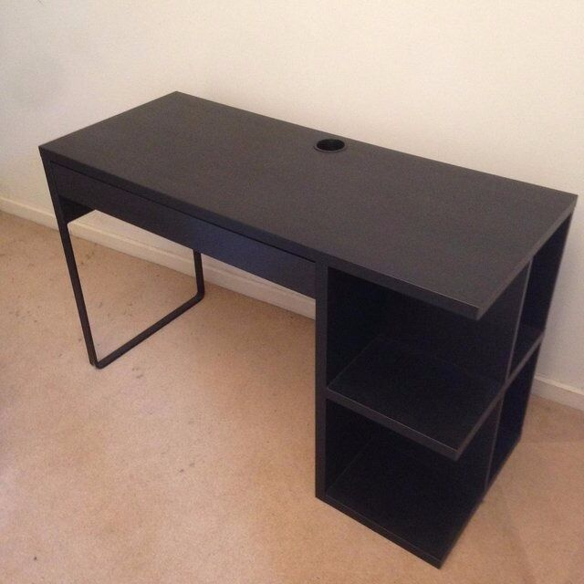 Beau Ikea Micke Desk With Integrated Storage   Black