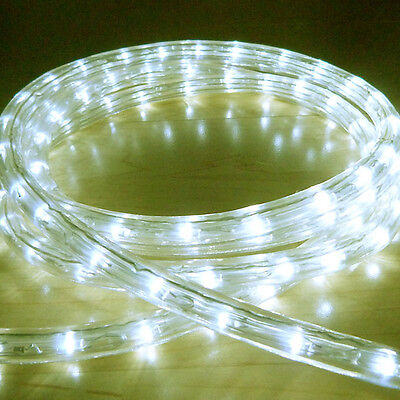 Perfect WARM WHITE LED ROPE LIGHT OUTDOOR LIGHTS CHASING STATIC CHRISTMAS XMAS  GARDENS