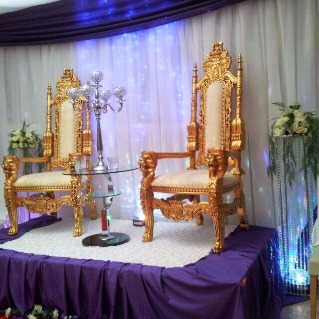 Charmant £149 ONLY FOR 2 THRONE CHAIRS HIRE****