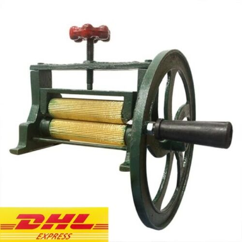 VINTAGE Dry Squid Orange Sugar Cane Mill Juicer Cast Iron Hand Press Brass tool