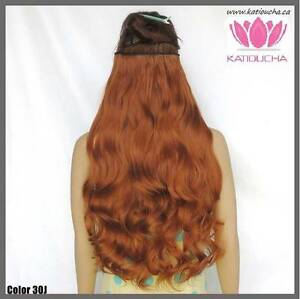 """Clip in hair extension,60 cm,24"""",NEW COLORS!!! AUBURN,COPPER RED Yellowknife Northwest Territories image 6"""