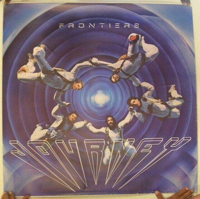 Journey Poster Frontiers Tour Skydiving 36x36 band Shot