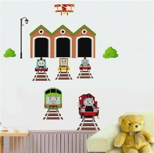 thomas train track the tank engine wall stickers kids decal decor diy. Black Bedroom Furniture Sets. Home Design Ideas